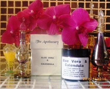 aloe vera and calendula ointment for eczema blister problems