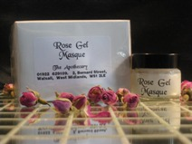 Gel masque made from pure rose oil,