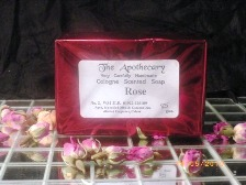 Soap made from rose oil
